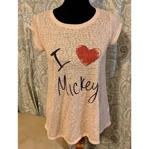 Lauren Conrad | Mickey Mouse shirt